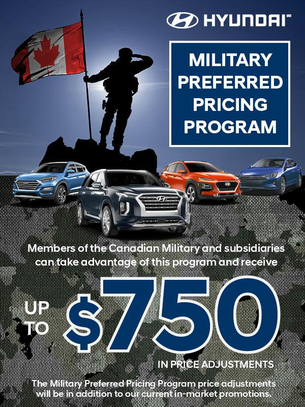Hyundai Military Preferred Pricing Program